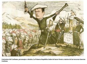 """Caricatura """"El carlismo"""""""