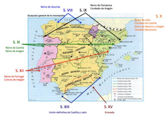 Origen y expansión reinos cristianos